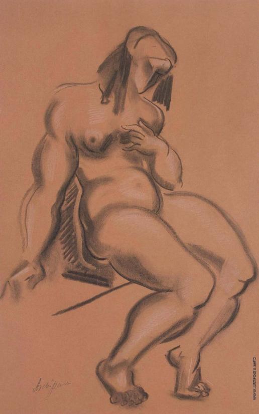 Архипенко А. П. Обнаженная, держащая левую руку у груди
