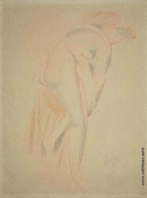 Архипенко А. П. Обнаженная женская фигура, согнувшаяся вправо