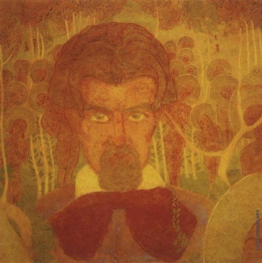 Малевич К. С. Эскиз фресковой живописи. Автопортрет