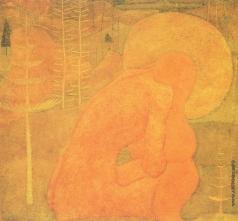 Малевич К. С. Эскиз фресковой живописи. Молитва