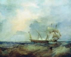 Боголюбов А. П. Корабли на море