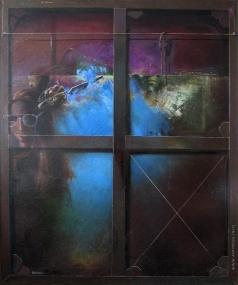 Нагель Л. К. Вид из-за холста на неоконченную картину