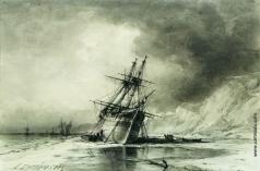 Боголюбов А. П. Корабли у берега