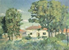 Малевич К. С. Пейзаж с белыми домами