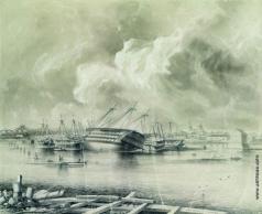 Боголюбов А. П. Кронштадт после наводнения 7 ноября 1824 года