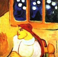 Гуро Е. Г. Женщина в платке (Скандинавская царевна)