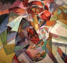 Лентулов А. В. Портрет М. П. Лентуловой с розами