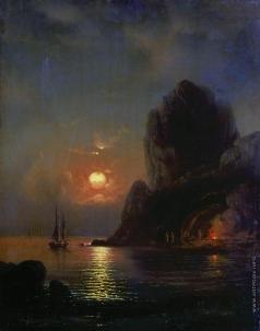 Боголюбов А. П. Лунная ночь на море