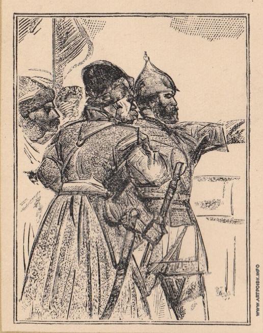 Маторин М. В. Иллюстрация для обложки книги «Ермак»