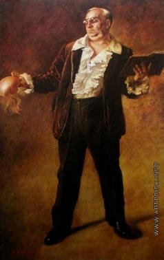 Яковлев В. Н. Портрет народного артиста СССР М.М. Климова