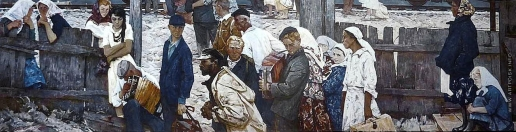 Кабачек Л. В. Парней увозят поезда