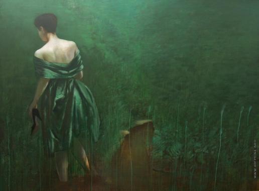 Лиела Д. А. Девушка в зеленом