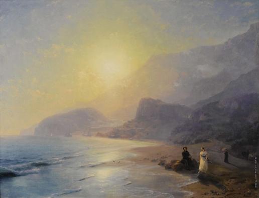 Айвазовский И. К. А.С. Пушкин и графиня Раевская у моря около Гурзуфа