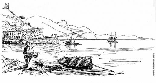 Айвазовский И. К. Бухта Амальфи в 1842 году