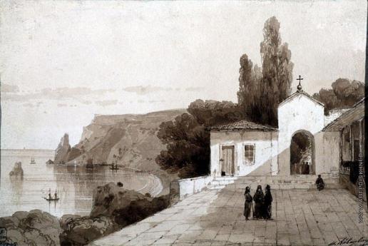 Айвазовский И. К. Вид Георгиевского монастыря