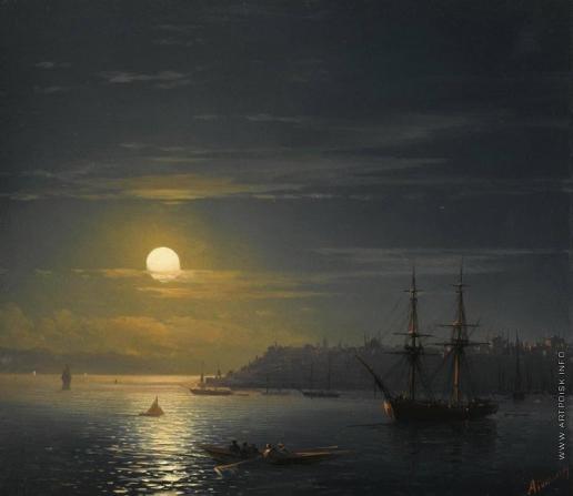 Айвазовский И. К. Вид Константинополя в лунную ночь