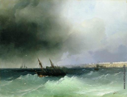 Айвазовский И. К. Вид Одессы с моря