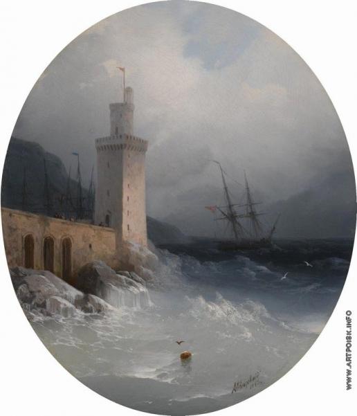 Айвазовский И. К. Вид побережья Амальфи