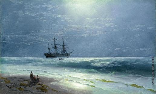 Айвазовский И. К. Высадка при луннои свете