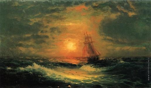 Айвазовский И. К. Закат на море