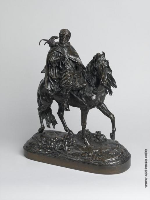 Лансере Е. А. Арабский охотник с двумя соколами