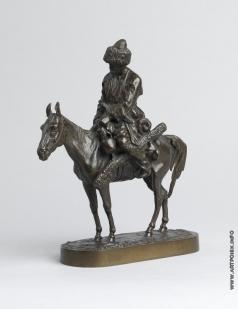 Лансере Е. А. Казак верхом на лошади