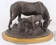 Лансере Е. А. Мальчик с лошадьми
