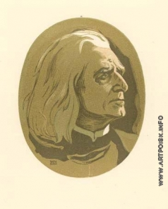 Маторин М. В. Ференц Лист. Фронтиспис для монографии
