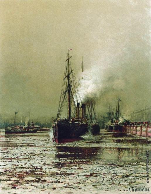 Боголюбов А. П. Морской канал в Петербурге