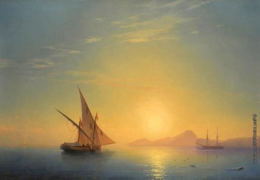 Айвазовский И. К. Закат над островом Искья