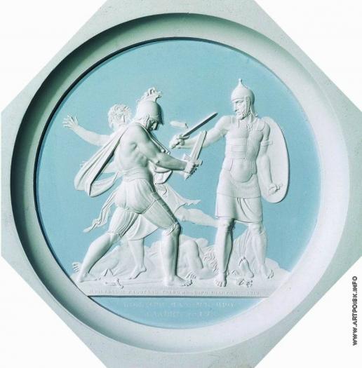Толстой Ф. П. Бой при Малом Ярославце в 1812 году. Барельеф