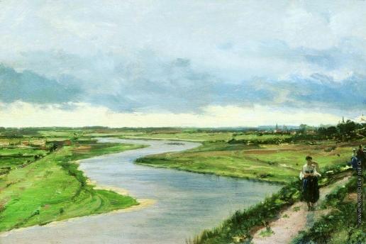 Боголюбов А. П. Москва-река у Звенигорода