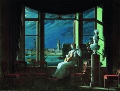 Толстой Ф. П. У окна. Лунная ночь