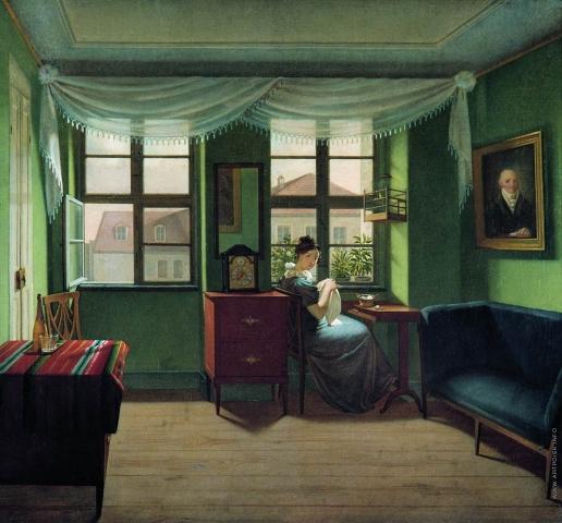 Толстой Ф. П. За шитьём. В комнатах