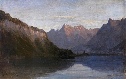 Боголюбов А. П. Женевское озеро близ замка Щильон