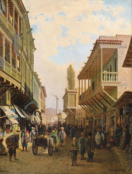 Верещагин П. П. Улица в Тифлисе
