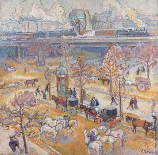 Тархов Н. А. Place Du Maine (Серый день)