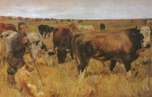 Пластов А. А. Колхозное стадо