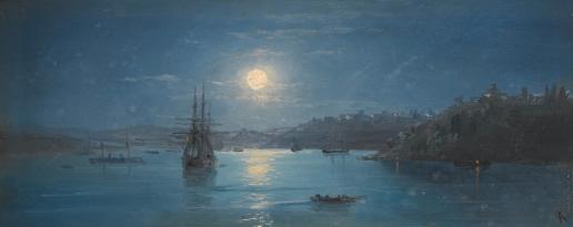 Айвазовский И. К. Река Ингул в лунном свете