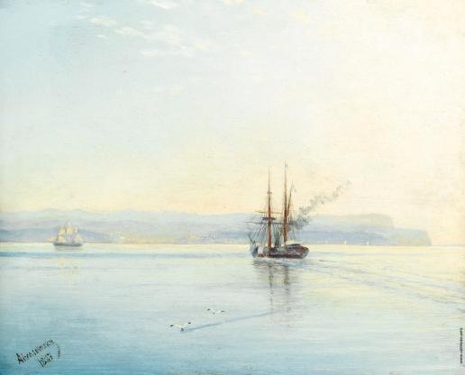 Айвазовский И. К. Пароход, возвращающийся домой