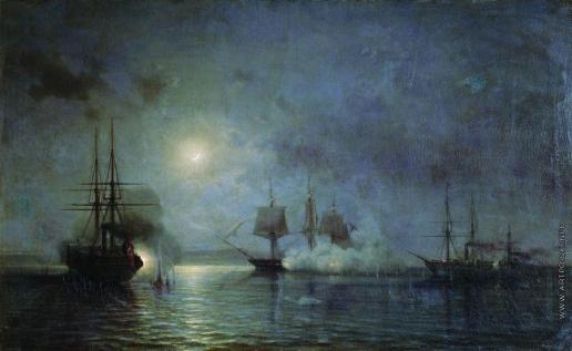 Боголюбов А. П. Ночное нападение на 44-пушечный фрегат «Флора» с 5 на 6 ноября 1853 года