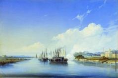 Боголюбов А. П. Обстрел пароходом «Прут» турецкой крепости Силистрия на Дунае 1854 года