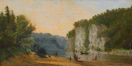 Верещагин П. П. Вид на реку Чусовая