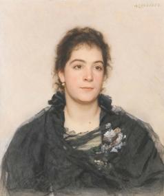 Соколов А. П. Женский портрет (Сандра Дроукер)