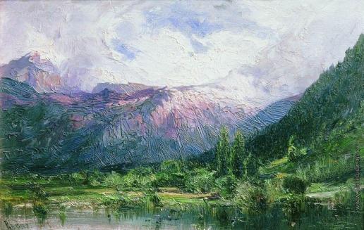 Боголюбов А. П. Озеро в горах
