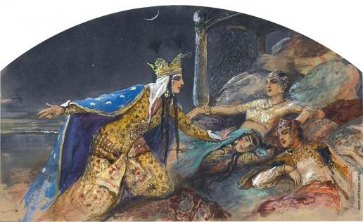 Соломко С. С. Иллюстрация к народной сказке