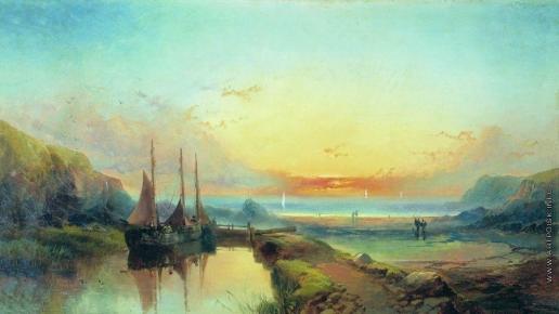 Боголюбов А. П. Остров Сен-Маркуф около Северной Нормандии