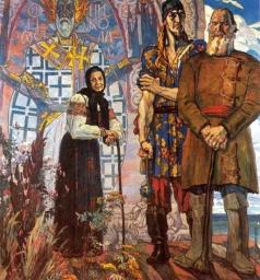 Корин П. Д. Старинный сказ. Правая часть триптиха «Александр Невский»
