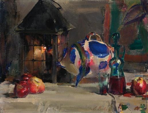 Фешин Н. И. Натюрморт с мексиканской фарфоровой свинкой