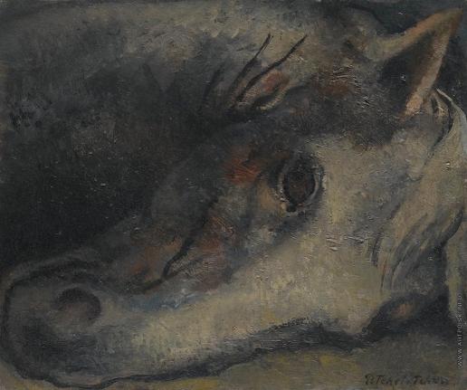 Челищев П. Ф. Голова лошади